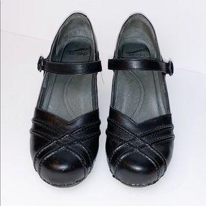Dansko Black Dress Heel Comfort Clog Shoes